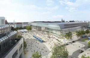 Der neue Hauptbahnhof München, Empfangsgebäude und Vorplatz, Entwurf: Auer Weber Architekten BDA