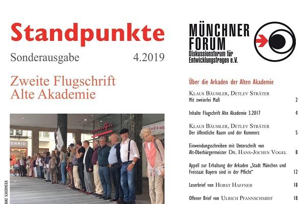 Zweite Flugschrift Alte Akademie [Standpunkte 04.2019]