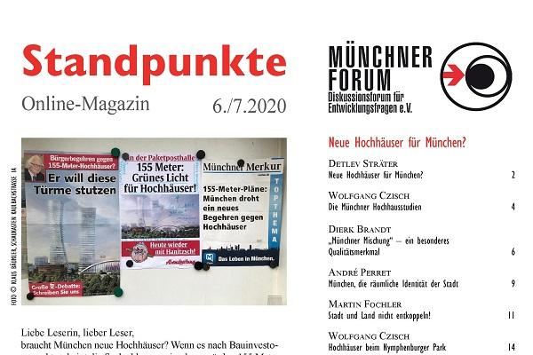 Neue Hochhäuser für München? [Standpunkte 06./07.2020]