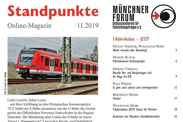 S-Bahn-Ausbau – JETZT! [Standpunkte 11.2019]