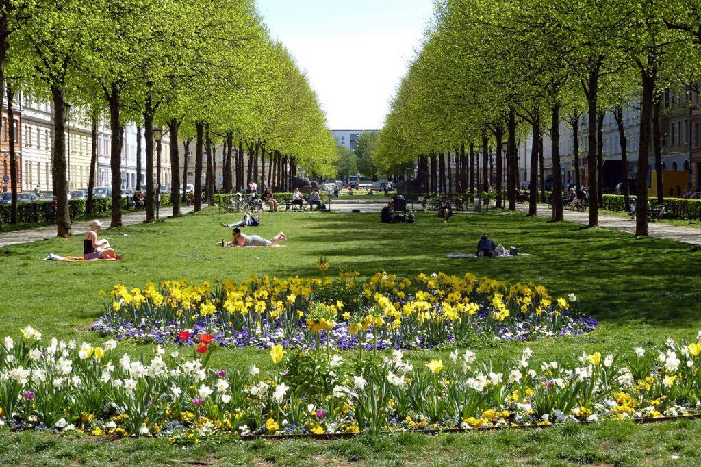 Genutzter öffentlicher Raum - der Bordeauxplatz