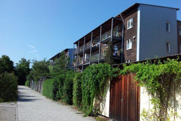 Autofreies Wohnen in der Messestadt Riem