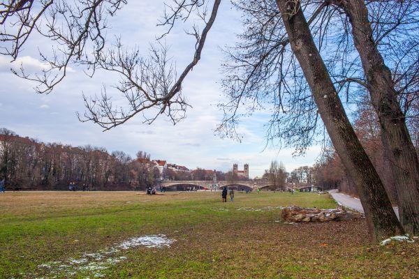 Das Isarbett – eine große Grünfläche inmitten der Stadt